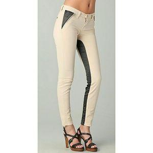 J Brand Nikko Empress Color Block Skinny Jeans 30